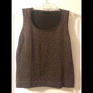 August Silk Brown Sparkle Top - Size Large